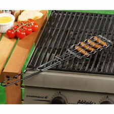 BBQ Grill Food Stainless Steel Sausage Holder Kitchen Cooking Serving Barbecue