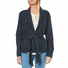 Best Mountain - Veste 50% lin - bleu marine