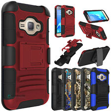 Hybrid Case Stand Holster Belt Clip Cover For Samsung Galaxy SM-J120A/
