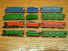 Steam train pin badge. Mallard. Flying Scotsman and Carriages. Station Master