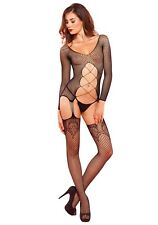 Leg Avenue Long Sleeve Suspender Bodystocking