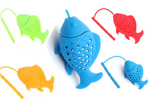 Good FISH Infuser Loose Tea Leaves Herbal Strainer Safe Silicone Diffuser UK GB