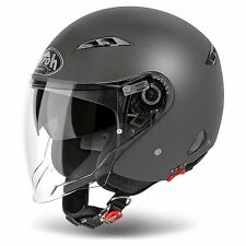 CASCO AIROH JET CITY ONE COLOR DOPPIA VISIERA ANTRACITE MATT MOTORICAMBIPIEMME