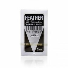 FEATHER HI Stainless Platinum Coated Double Edge Razor Blades-Made in Japan