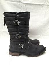 BNIB Authentic UGG Australia Tatum Biker Boots (RRP £275) Black (UK 3.5)