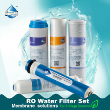 5 Stage Home Drinking Reverse Osmosis System Full Filter Reef Aquarium 50GPD New