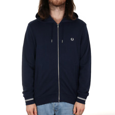 Fred Perry Loopback Hooded Sweat - Carbon Blue