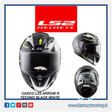 CASCO INTEGRALE MOTO IN FIBRA COMPOSITA LS2 FF323 ARROW R TECHNO BIANCO NERO