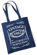 36th REGALO COMPLEANNO BORSA SPESA IN COTONE VINTAGE 1982 Matured to Perfection