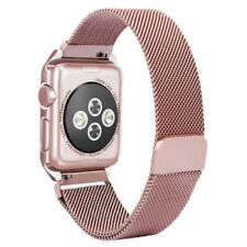 Milanese Loop Stainless Steel Watch Band Strap&Frame For Apple iWatch 38mm 42mm