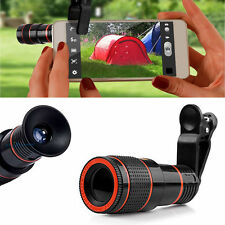 Universal 12X Zoom Telephoto Telescope Lens Phone Camera Clip For iPho