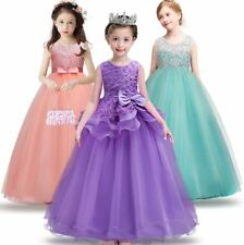 New Stunning Wedding Girls Dress Princess Pageant Bridesmaid Party Kids Clothes