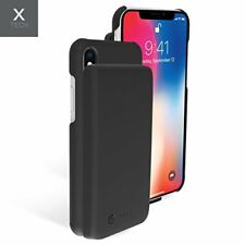 iPhone X Battery Case 5000mAh Rechargeable Portable Extended Ring Hold