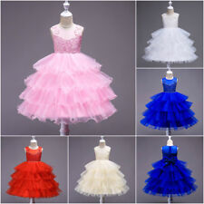 New Stylish Wedding Girls Dress Princess Pageant Bridesmaid Party Kids Clothes