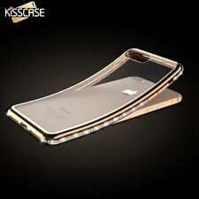 Glitter Rhinestone Transparent Plating Slim Back Case For iPhone 5 6 6S 7 Plus