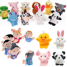 Plush Finger Puppets Or Family Dolls Toys Set For Educational Childrens Kids UK