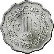 India 10 PAISE MONEDAS Indio Asiático