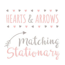 Rustic Hearts and Arrows Photo Set Matching Stationary Collection