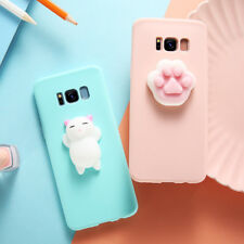 Cute Cat Silicone Gel Case Cover For Samsung S7 S8 S6 Edge J3 J5 J7 A5 A7 A3 S8+