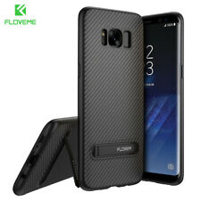 Silicone Armor Slim Kickstand Phone Back Case For Samsung Galaxy S8 S7 Note 8