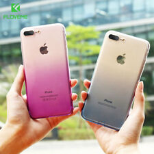 Ultra Slim Gradient Colors Soft Silicone TPU Gel Back Case For iPhone 8 7 6 5 SE