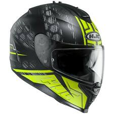 HJC is-17 ENVER Casco de moto integral Touring - MATE NEGRO FLUO AMARILLO