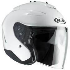 HJC IS-33 II metallique moto Casque jet - Blanc
