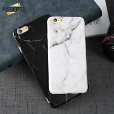 Silicone Soft Patterned Marble Back Slim Cover Phone Case For iPhone X 5 6 7 8