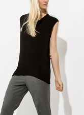 Kit and Ace Atal Tee Black Loose Sleeveless Top T-shirt with Cashmere NWT