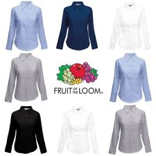 Fruit of the Loom Womens Lady-Fit Oxford Long Sleeve Shirt