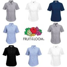 Fruit of the Loom Womens Lady-Fit Oxford Short Sleeve Shirt