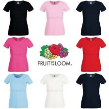 Fruit of the Loom Womens Lady-Fit Crew Neck T-Shirt
