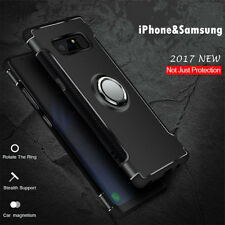 Ultra Slim Hybrid Armor Ring Kickstand Back Case Phone Cover For iPhone Samsung