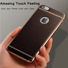Slim PU Leather Silicone Soft TPU Back Phone Gel Case Cover For iPhone X 5 6 7 8