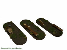 Bike/Cavalry Resin Scenic Bases 25x70mm - Rural/Forest/Woodland -Warhammer, LotR