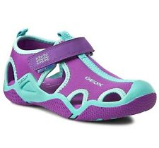 Geox Respira Infant Girls Wader Purple Lycra Closed Toe Water Safe New Sandals