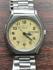 VINTAGE VERY RARE FAVRE LEUBA SOWAR  PRIMA + 17 JEWELS DAY DATE MENS WRIST WATCH