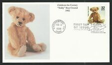 Michtom Steiff Ideal Toy Corporation Teddy Bear Created US Stamp First Day Cover