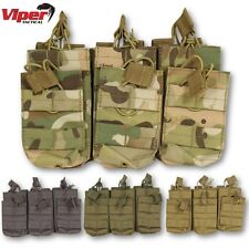 VIPER TREBLE DUO MAG POUCH MOLLE AIRSOFT MAGAZINE ARMY WEBBING SHOOTING UTILITY