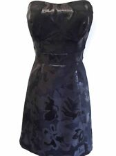 New Karen Millen Black Strapless Jacquard Cocktail Prom Dress Ladies UK Sizes