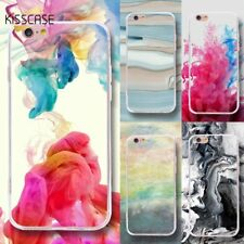 Colorful Soft TPU Painted Art Back Phone Slim Case Cover For iPhone X 4 5 6 7 8