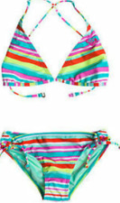 ROXY FILLE BIKINI Support Lot rayures multicolore rayé NEUF