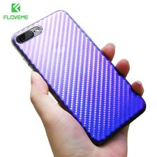 Ultra Slim Gradient Light Blue Ray Plastic Phone Back Case Cover For iPhone 7 6