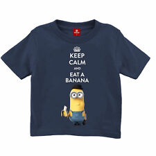 Kids Shirt - Minions - KEEP CALM AND EAT A BANANA - NEU -