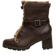 NEW UGG Australia Womens Ingrid Strap Brown Leather Boots UK 4.5 - 7.5