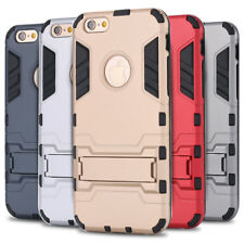 Hybrid Armor Kickstand Hard Plastic + Silicon Back Phone Cover For iPhone 6 7 5