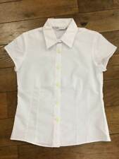 Ex M & S Girls White School Blouse