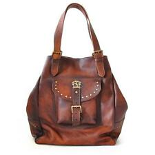 Pratesi borsa donna in pelle con manico e tracolla italian leather woman handbag