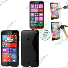 Cover Custodia TPU Silicone Gel Nokia Lumia 1320/RM-994 + 2 Film Vetro Temperato