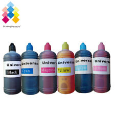 6x 100ml CISS Refillable Ink Refill Bottle for Epson XP760 p50 r220 r285 1500W